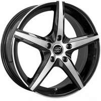 Infiny Modena Black Machined Face 7x16 5/105 ET40 N56.6