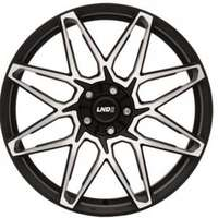 LND R12 forged Matt Black Polished 10x20 5/120 ET40 N72.6