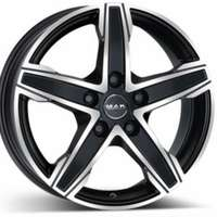 MAK King5 Matt Black Polished 7.5x18 5/130 ET58 N78.1